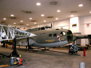 The Memphis Belle Stands Disassembled In Its Hangar Across  From Naval Support Activity Mid-south, Where Volunteer Mechanics Image