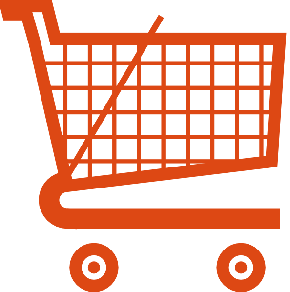 Orange Shopping Cart Clip Art at Clker.com - vector clip ...