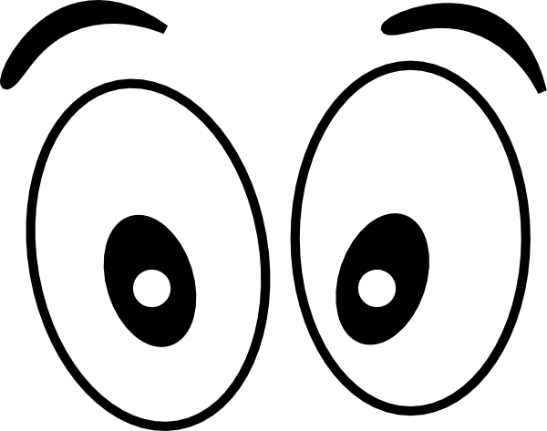 cartoon eyes straight on  black clip art at clker com