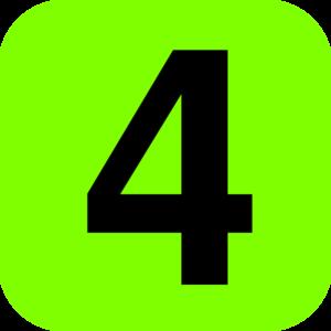 Green And Black Number 4 Clip Art at Clker.com - vector ...