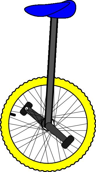 Unicycle Color Clip Art at Clker.com - vector clip art ...