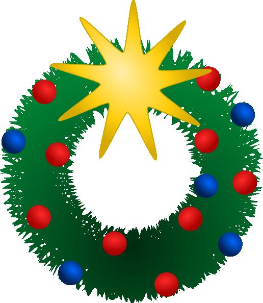 Christmas Wreath Clip Art at Clker.com - vector clip art ...