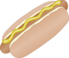 Hot Dog In Bun With Mustard Clip Art