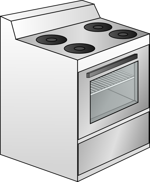 Cartoon Electric Cooker ~ Stove clip art at clker vector online