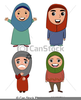 Free Muslim Woman Clipart Image
