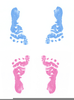 Blue Baby Booties Clipart Image