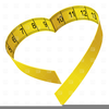 Tape Measure Weight Loss Clipart Image