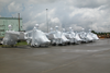 Army Oh-58 Kiowa Warrior Helicopters Assigned To The 82nd Airborne Division From Fort Bragg, N.c., Are Shrink Wrapped. Image