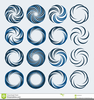 Spiral Shape Clipart Image