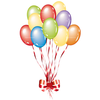 Birthday Ballons Clipart Image