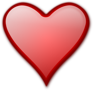 Shiny Red Heart Clip Art