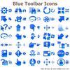 Blue Toolbar Icons Image