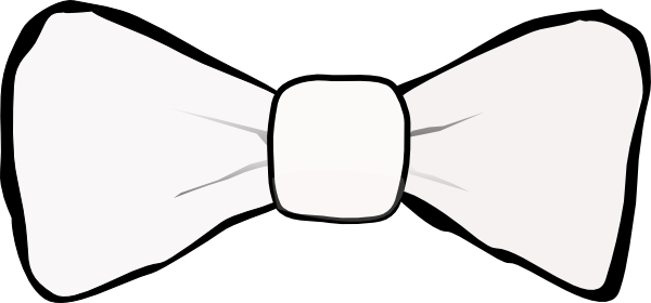Bow Tie White Clip Art at Clker.com - vector clip art ...