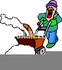Man With Snowblower Clipart Image