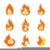 Free Flame Clipart Vector Image