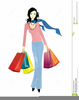 Lady With Shopping Bags Clipart Image