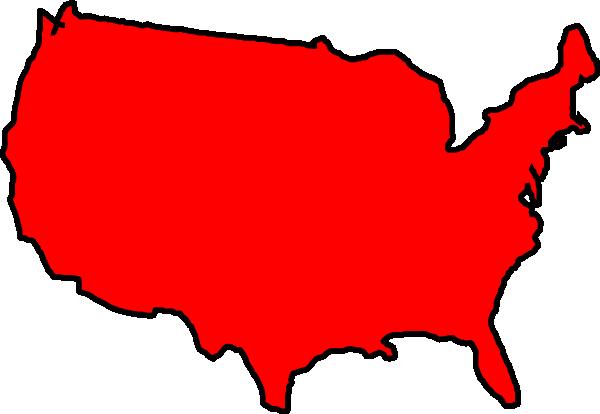 red map usa clip art at clker - vector clip art online