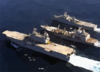The Military Sealift Command Supply Ship Usns Patuxent (t-ao-201) Conducts A Dual Underway Replenishment (unrep) Clip Art