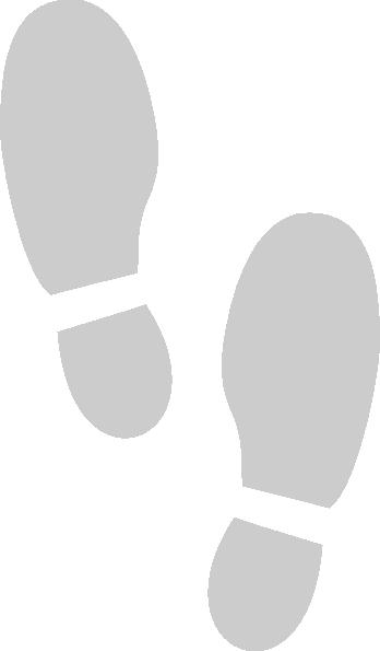 Shoe Print Grey Hi on Dance Foot Prints