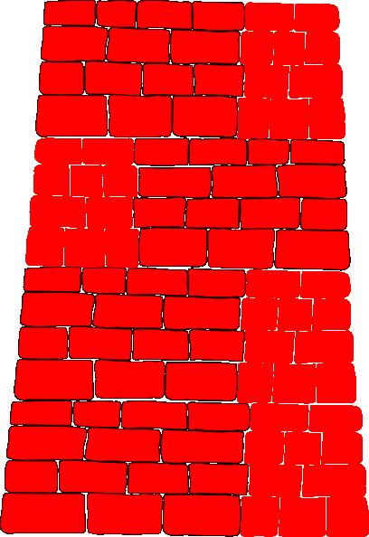 red brick wall clip art at clkercom vector clip art