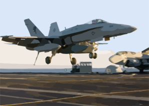 An Fa-18c  Hornet  From The Clip Art