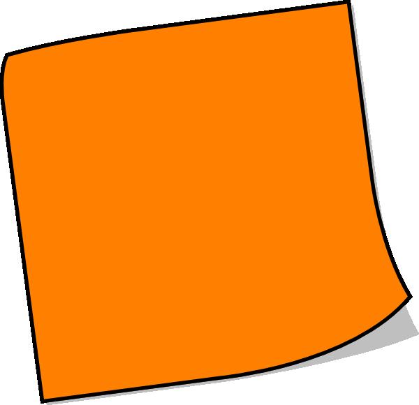 orange sticky note clip art at clkercom vector clip art