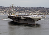 Uss Abraham Lincoln (cvn 72) Makes Its Way To Naval Air Station North Island . Image