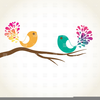 Bird On Twig Clipart Image