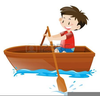 Cartoon Row Boat Clipart Image