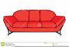 Red Couch Clipart Image