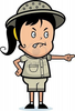 A Cartoon Girl Explorer With An Angry Expression Image