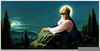 Jesus Praying In The Garden Of Gethsemane Clipart Image