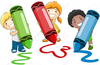 Crayons Clipart Free Image