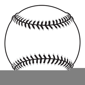 Free Baseball Clipart Black And White Image