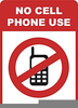 No Cell Phones Allowed Clipart Image