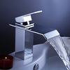 Chrome Finish Contemporary Waterfall Bathroom Sink Faucet Adad Image