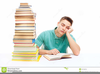 Student Sitting At Desk Clipart Image