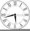 Adjustable Clock Clipart Image