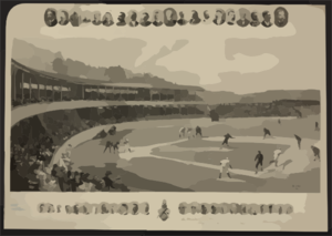 A Baseball Match  / Hy. Sandham, Boston 1894. Clip Art