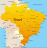 Brazil Country Map Image