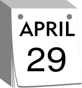 April 29 Clip Art