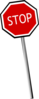 Crooked Stop Sign Clip Art