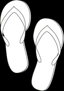 Flip Flops Outline Clip Art at Clker.com - vector clip art ...