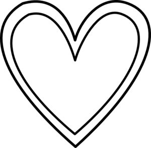 Double Heart Outline Clip Art at Clker.com - vector clip ...