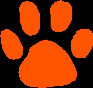 dark orange paw print clip art at clker com vector clip dog and cat paw prints clip art cat paw print clip art border