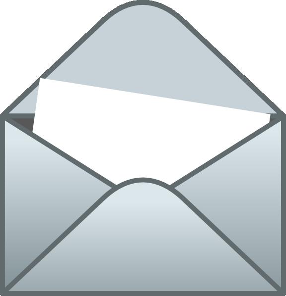 Envelope With White Letter Clip Art At Clker Com Vector