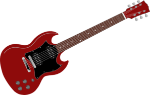 Red Gibson Sg Clip Art