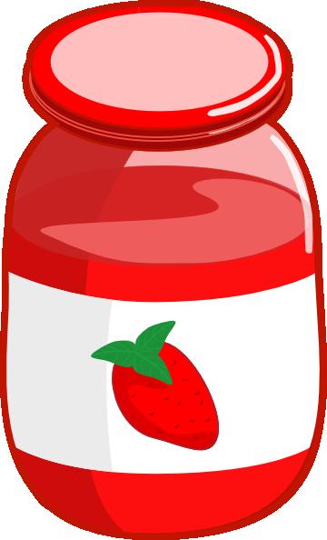 strawberry jam clip art at clkercom vector clip art