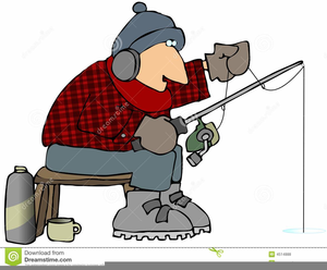 Free Clipart Ice Fishing Image