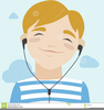 Boy Listening Clipart Image